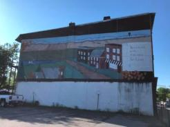 Mural on building in Fort Edward