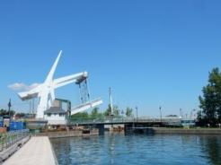 New lift bridge & town dock