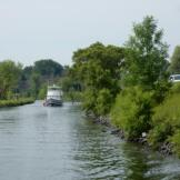 """Reverie"" following behind in Chambly Canal"