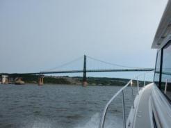 Approaching Ile d'Orleans Bridge