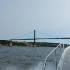Approaching Ile d'Orleans Bridge