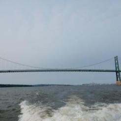 Leaving Ile d'Orleans Bridge behind