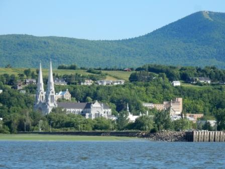 St Anne de Beaupre from the St. Lawrence River