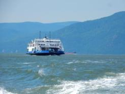 Passing ferry at Ile aux Coudres