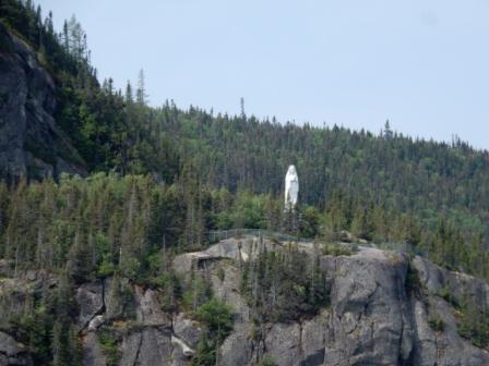 Statue of Mary on Cap Trinite