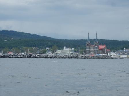 Approaching St. Anne Des Monts Harbor