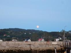 Moon rise at St. Anne Des Monts