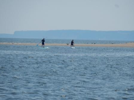 Paddleboarders near Sandy Beach Point