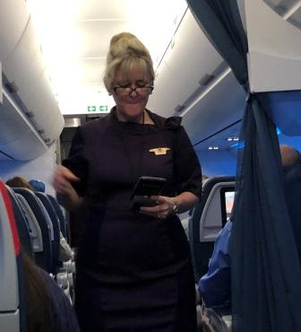 Flight Attendant Susan