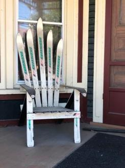 Adirondack chair out of skis