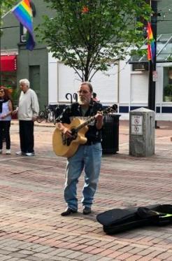 Musician on Church St.