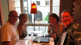 With Wendy & Bruce at Leunig's Bistro