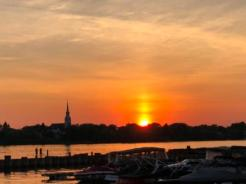 Sunset over Chambly Basin