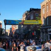 Festival banner and Rue St. Jean
