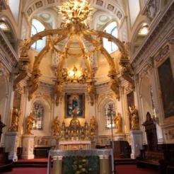 Main alter at Notre-Dame de Québec Basilica-Cathedral