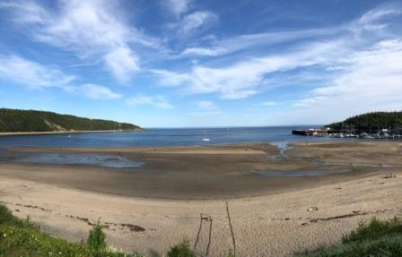 Tadoussac beach and harbor