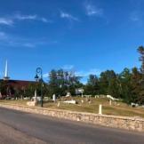 Graveyard in town
