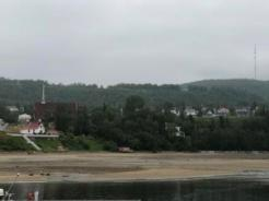 Very low tide at Tadoussac Beach