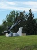 Sculpture in nearby park