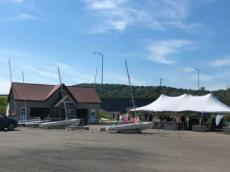 Yacht club and activity tent