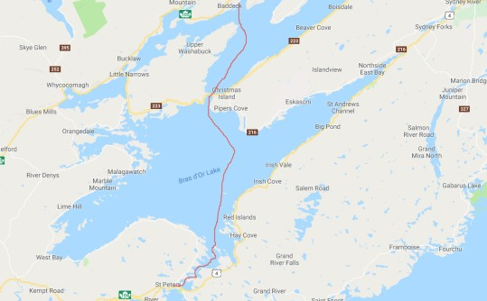 Baddeck to St. Peters