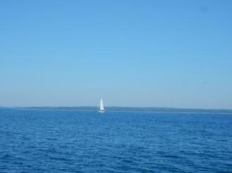 Sailboat off of NS - New Harbor
