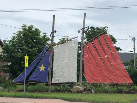 Acadian flag ship