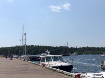IO at the Baddeck Wharf
