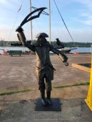 Pirate sculpture at Baddeck wharf