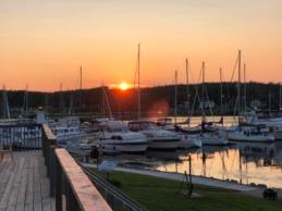 Sunset over St Peters Marina