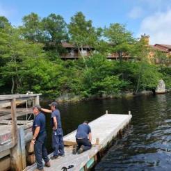 Repairing the dock