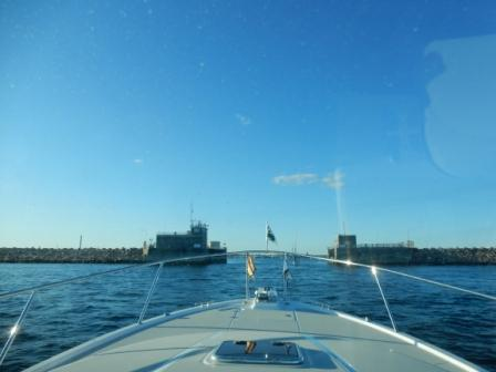 Approaching New Bedford Hurricane wall