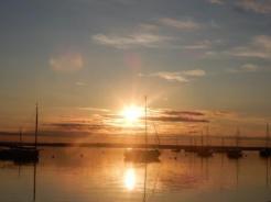 Sunrise over harbor