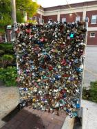 Locks art sculpture at DiMillos
