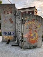 PIece of Berlin Wall at DiMillo's