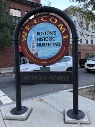 North End signage