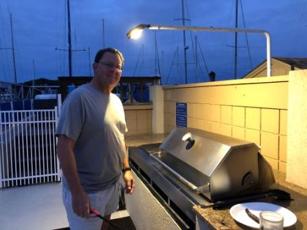 Cooking out on the grill