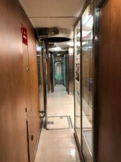 Narrow corridor inside USS Nautilus