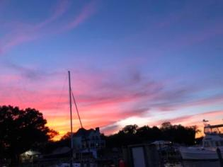 Sunset over Solomons Island