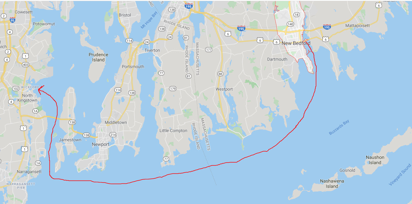 New Bedford to Wickford