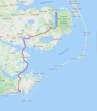 Alligator River to Beaufort