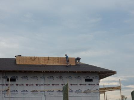 Putting on the roof