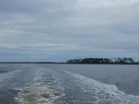 Leaving the Pamlico Sound