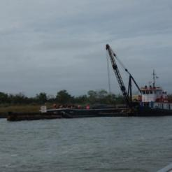 Dredge at end of Fields Cut