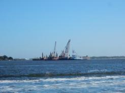 St John's River Dredge operations
