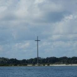 Cross at Our Lady of La Leche National Shrine at Mission Nombre de Dios