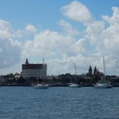 Anchorage and skyline of St. Augustine