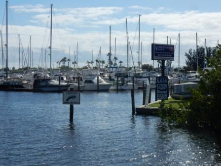 Approaching Harbortown Marina