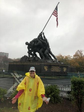 At the United States Marine Corps War Memorial (Iwo Jima Memorial)