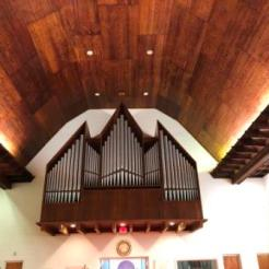 Pipes for organ inside St Mary